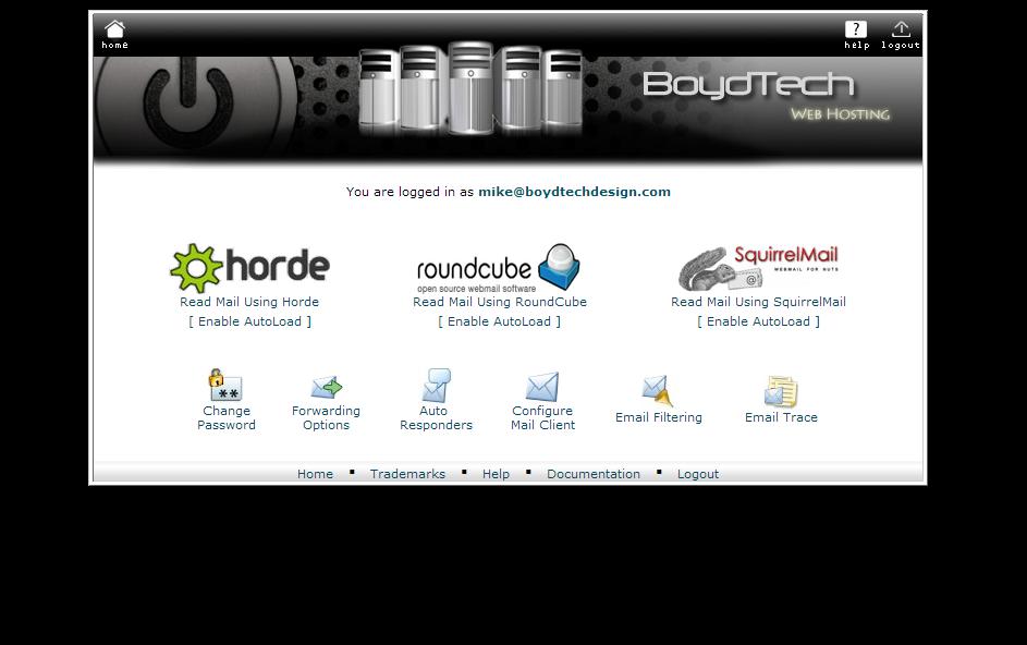 WebMail-SelectClient