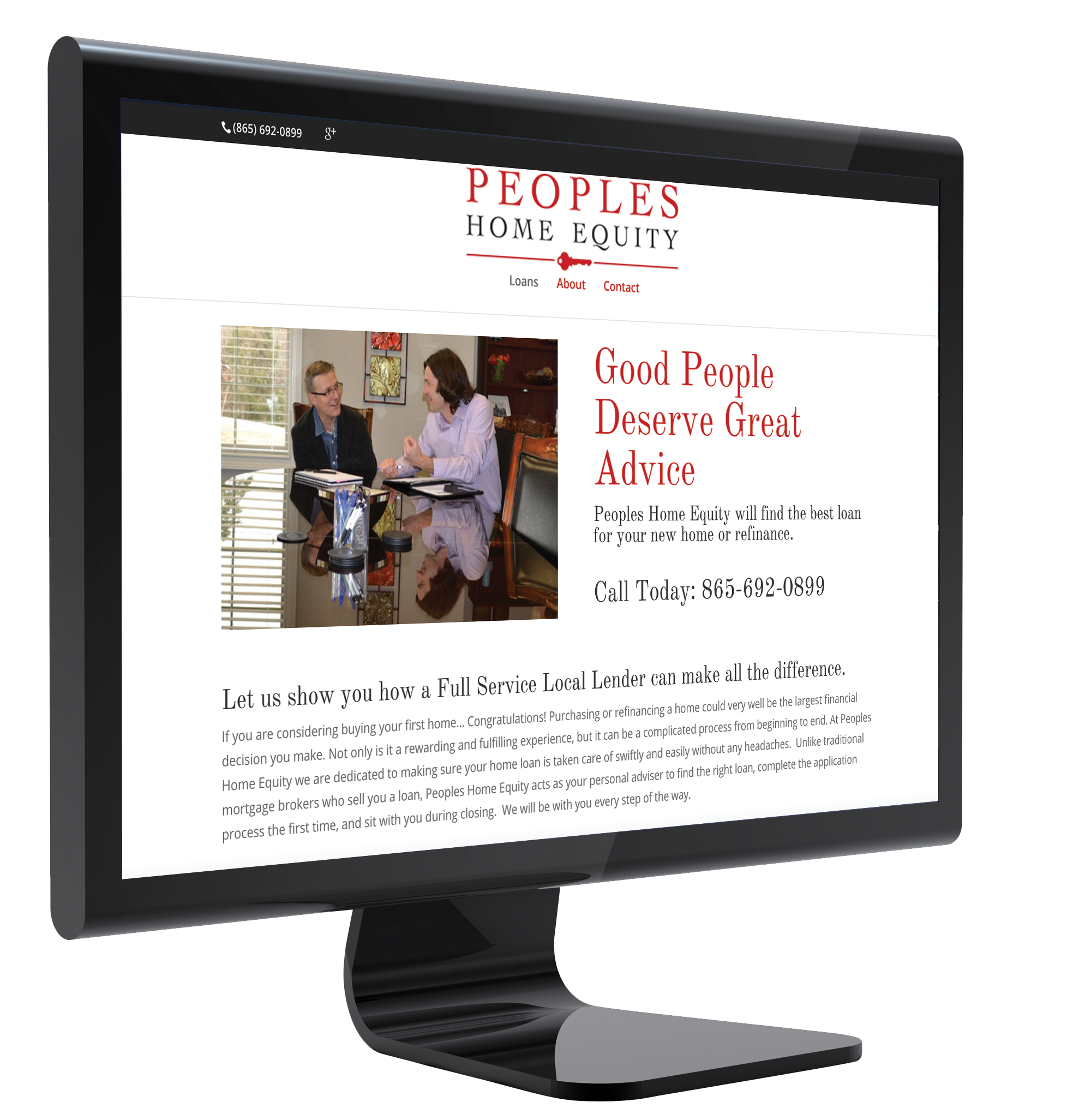 People's Mortgage Website Sample
