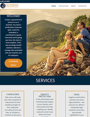allen mcmichael tablet custom website design