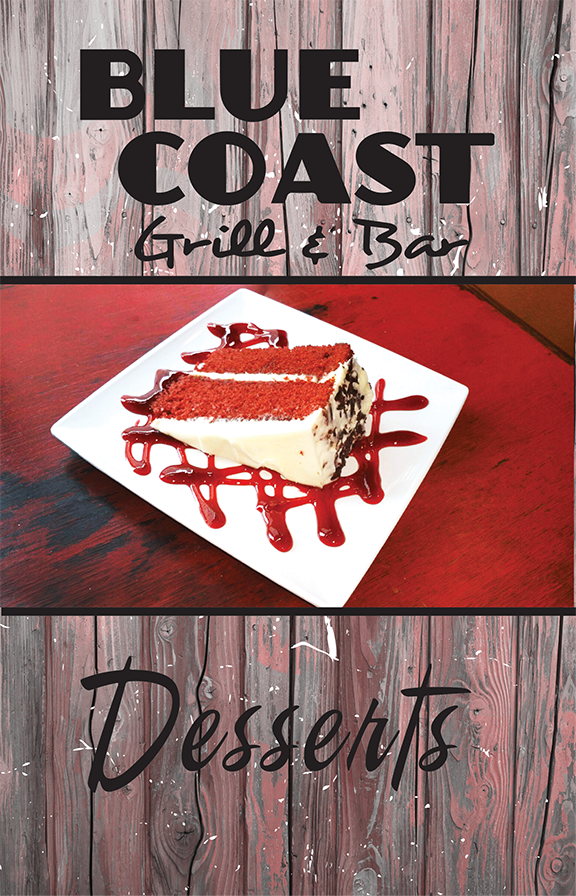 Blue Coast menu