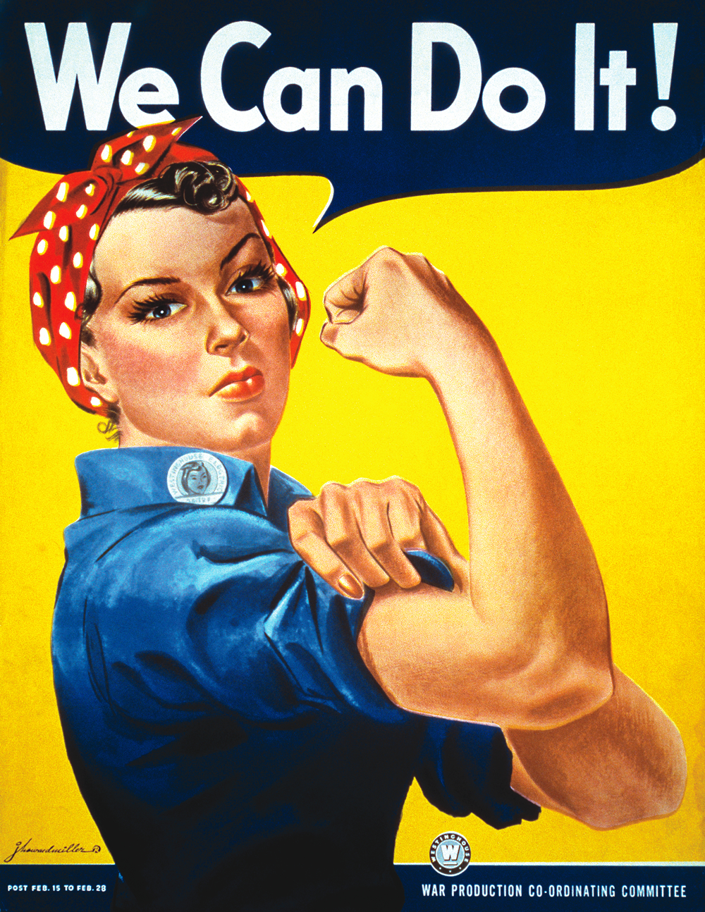 we can do it rosie picture represents gender roles and equality
