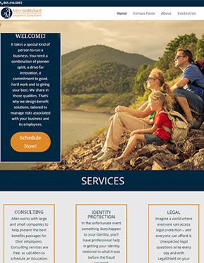 allen mcmichael tablet custom website design