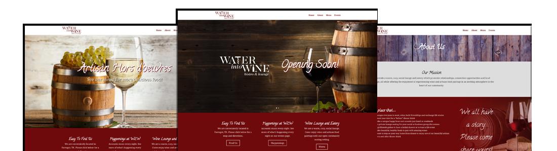 BoydTech Water into Wine Website Design