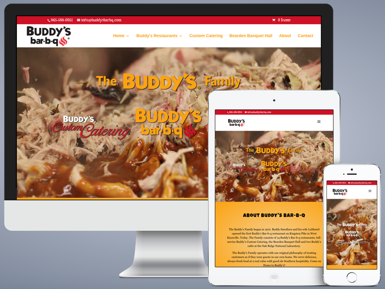 Buddy's Bar-b-q was designed to be mobile-friendly